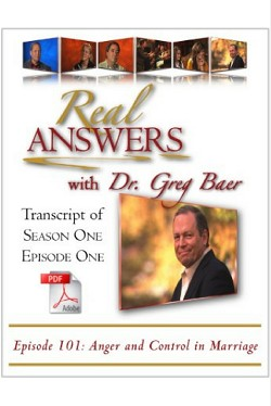 Real Answers with Dr. Greg Baer - Pilot Episode - PDF Transcript